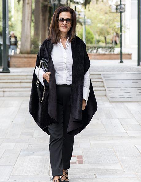 Poncho jacket black velvet- suede doublefash onesize!!! www.cherryschoice.gr