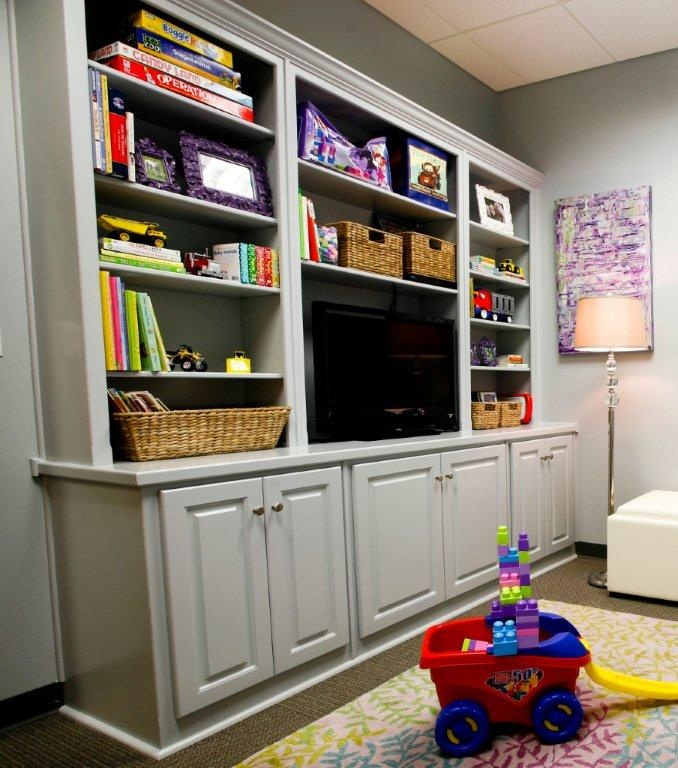 Cabinetry for Sunroom Wall