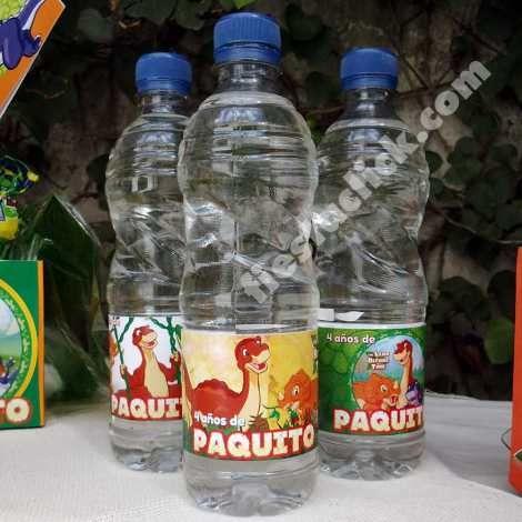 Etiquetas para botellas de agua para la fiesta de Pie pequeño