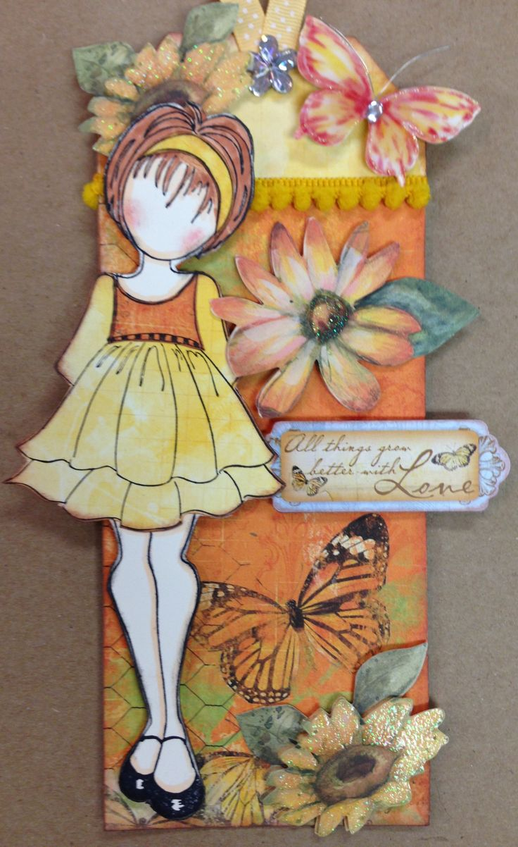 Julie Nutting doll stamp.