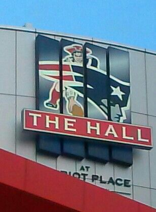 Gillette Stadium....the hall...Patriots history displayed..well done!