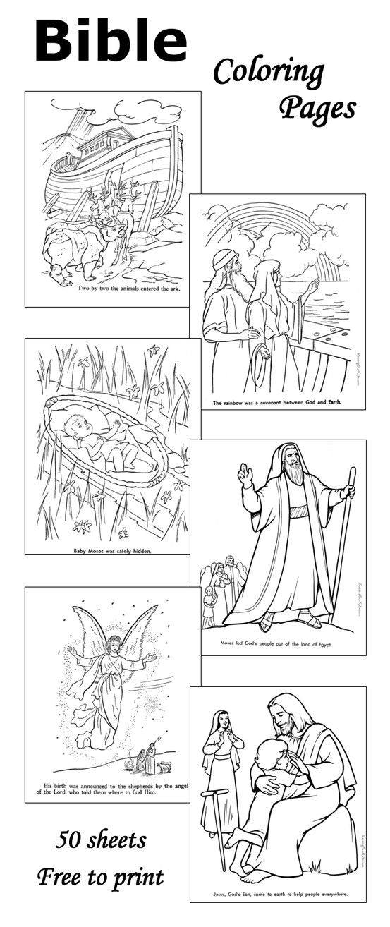 bible coloring pages 50 sheets - Childrens Biblical Coloring Pages