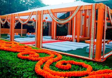 Mehendi decor ideas. I like the neat clean lines