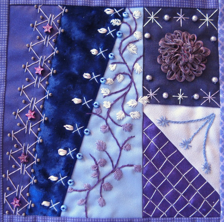 612 best Crazy Quilting images on Pinterest | Crafts, Embroidered ... : crazy quilt blogs - Adamdwight.com