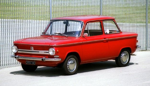 NSU Prinz mitica auto Anni 70. nella versione beige noi la chiamavamo la saponetta...