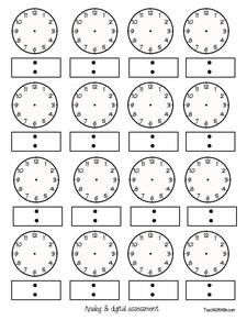 Clock Templates Analog Clock Templates Digital Time Templates