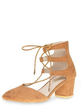 Dorothy Perkins Womens Tan Halo Round Toe Court Shoes- Brown Tan Halo suedette round toe 2 part ghillie court with 2.5 stack heel. 100% Fabric. http://www.MightGet.com/january-2017-13/dorothy-perkins-womens-tan-halo-round-toe-court-shoes-brown.asp