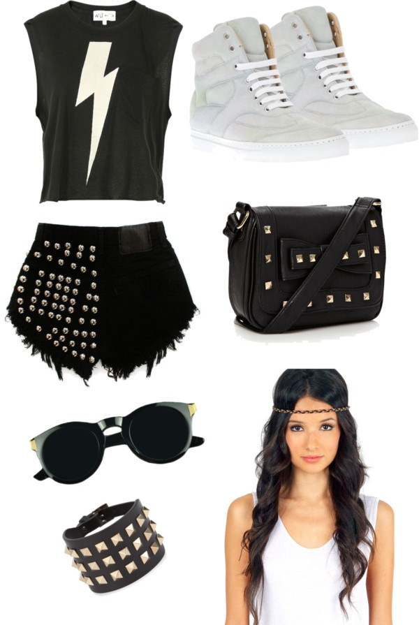 """Rocker Chic Outfit #1"" by ashionista ❤ liked on Polyvore"