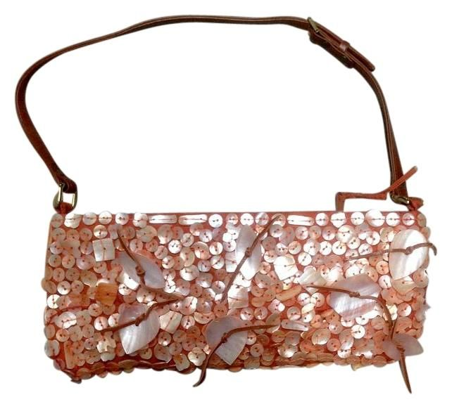 Chan Luu Embellished Mother Of Pearl Silk Evening Detail Salmon Pink Baguette. Get the trendiest Clutch of the season! The Chan Luu Embellished Mother Of Pearl Silk Evening Detail Salmon Pink Baguette is a top 10 member favorite on Tradesy. Save on yours before they are sold out!