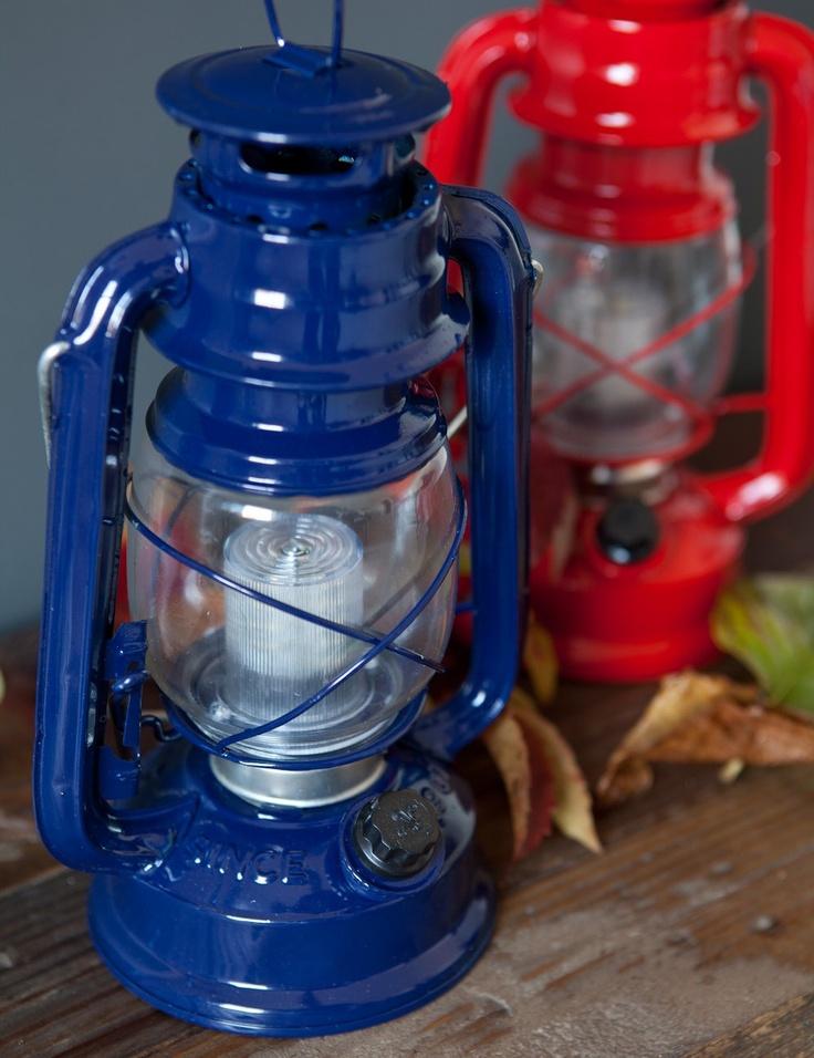 We love this vintage looking hurricane lamp with ...