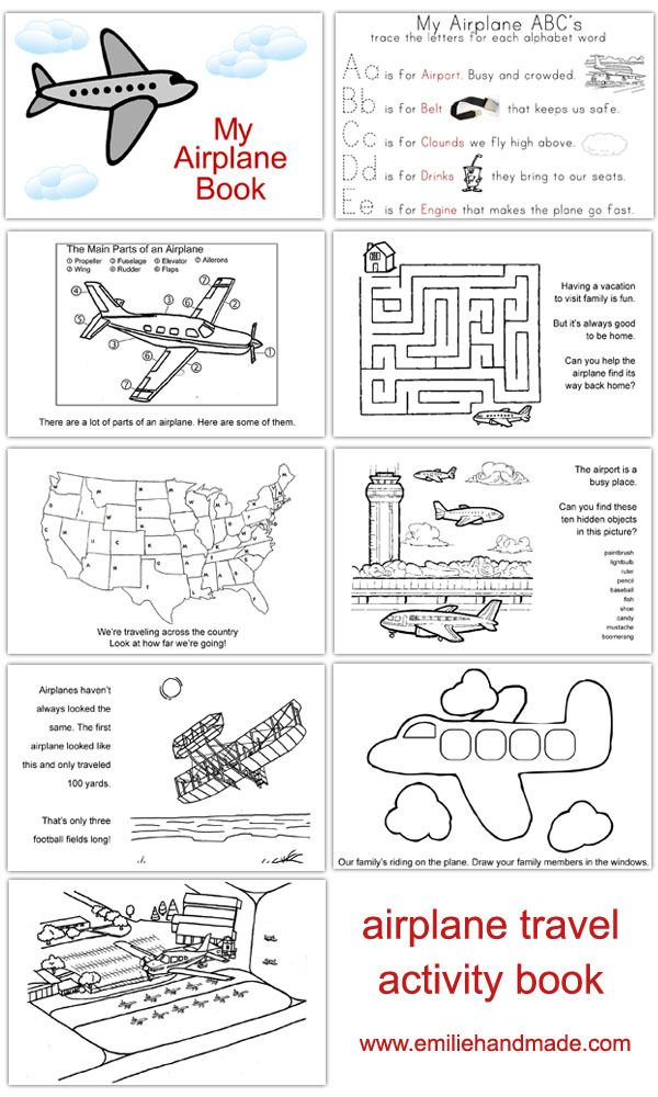 Airplane Activity Book- to keep kids occupied on the plane...