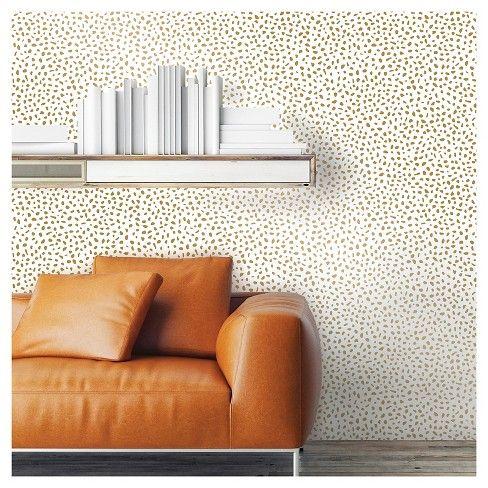 Speckled Dot Peel Stick Wallpaper Metallic Gold Opalhouse Peel And Stick Wallpaper Target Wallpaper Dots Wallpaper