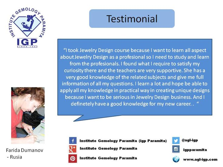 Testimonial from one of our participant