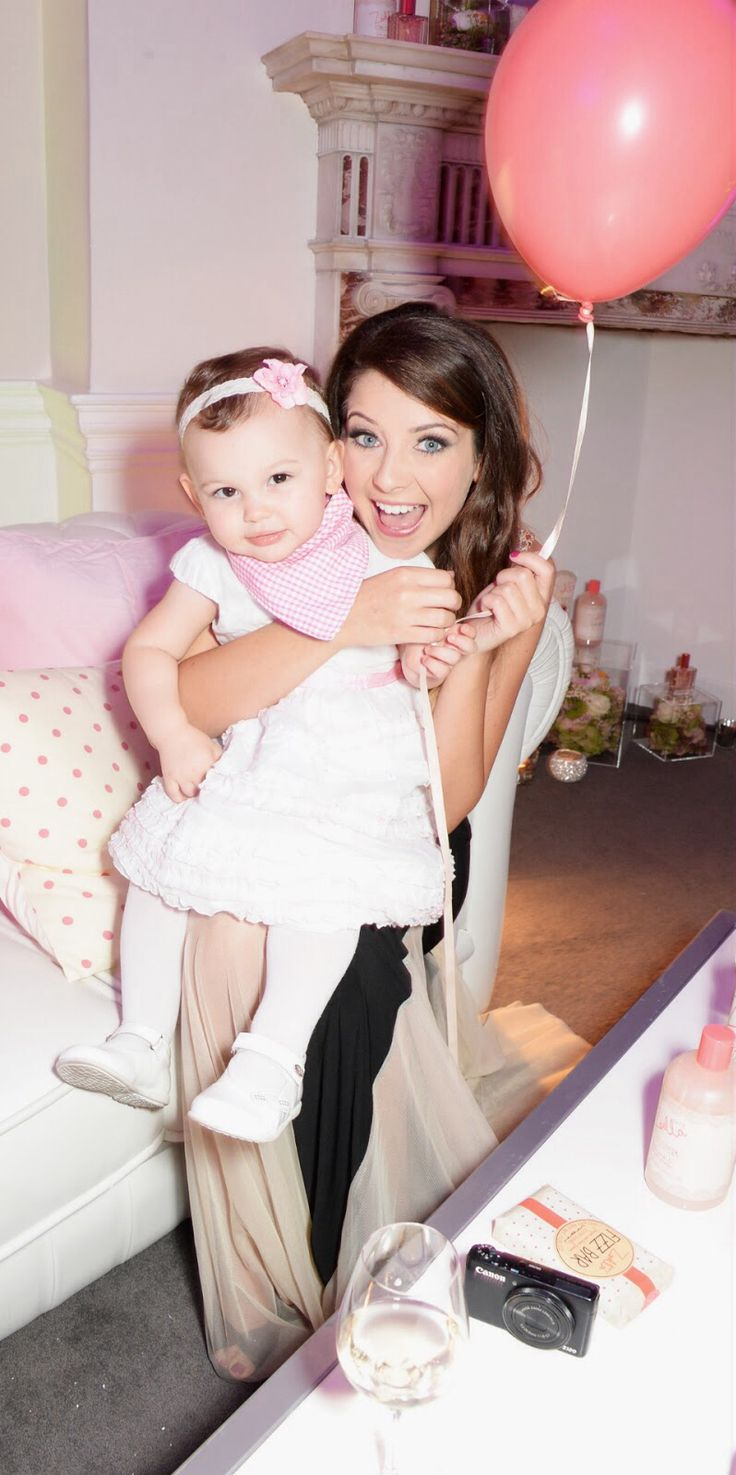 zoe on the day of her zoella beauty launch party with the fab emilia from sacconejoly both of them are FAB-U-LOUS X