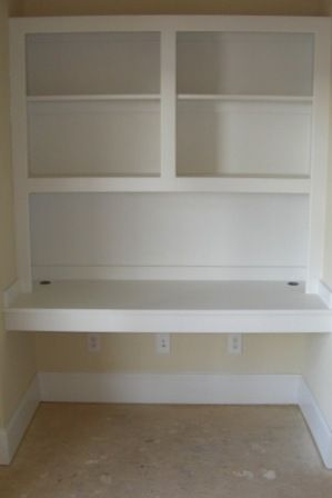 white built-in desk- H's corner ....... When Jake leaves for college this fall I might do this to his closet... :P