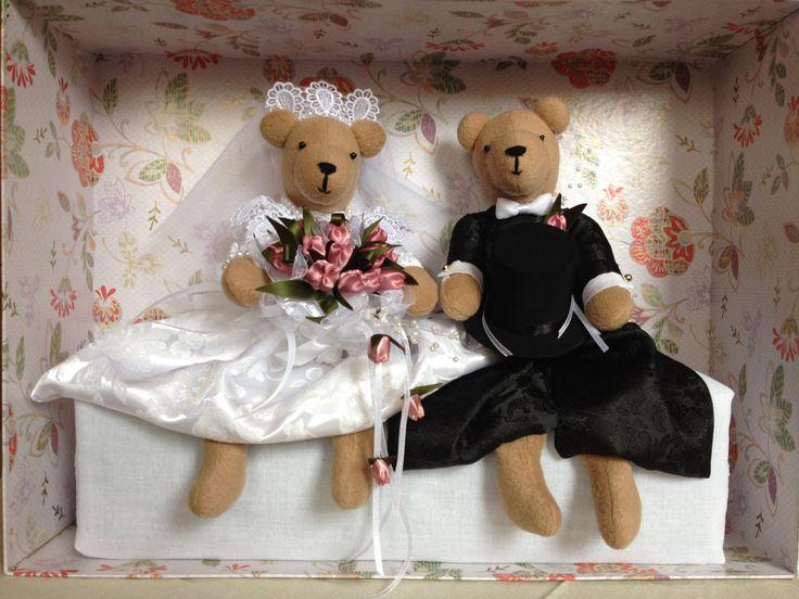 Tulipános esküvői macipár 2013