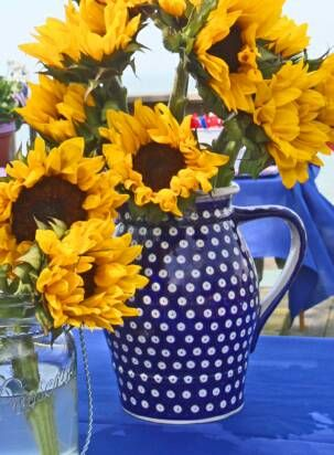 We love the traditional blue dots of Polish pottery!