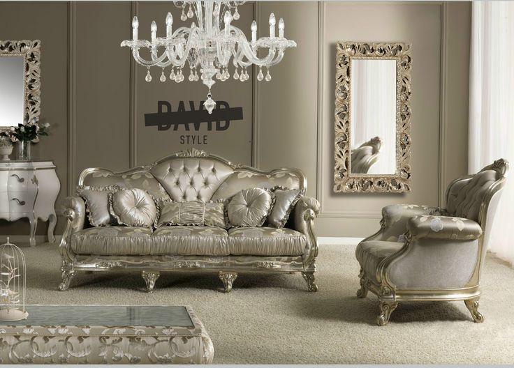 Living baroque Divano lusso #livingbaroque #luxuryfurnitureitaly #divanobarocco #divanolusso