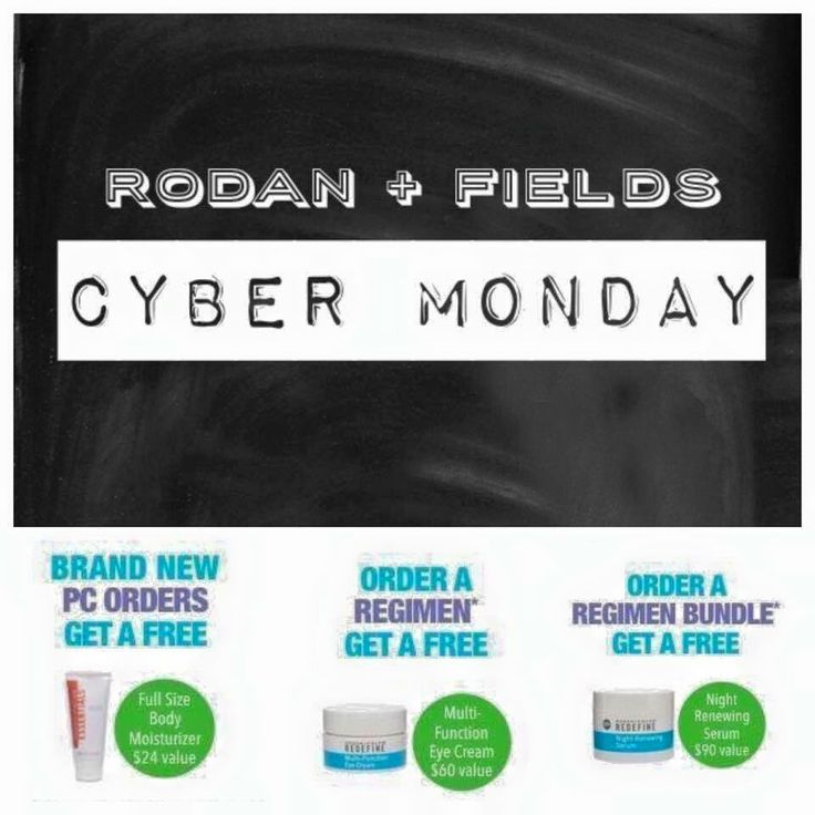 CYBER MONDAY SALE!! FRee gift with purchase on Rodan and Fields! Message me to find out more!