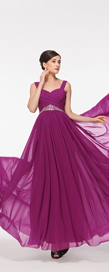 Magenta maid of honor dresses long sweetheart bridesmaid dresses with straps beaded bridesmaid dress magenta