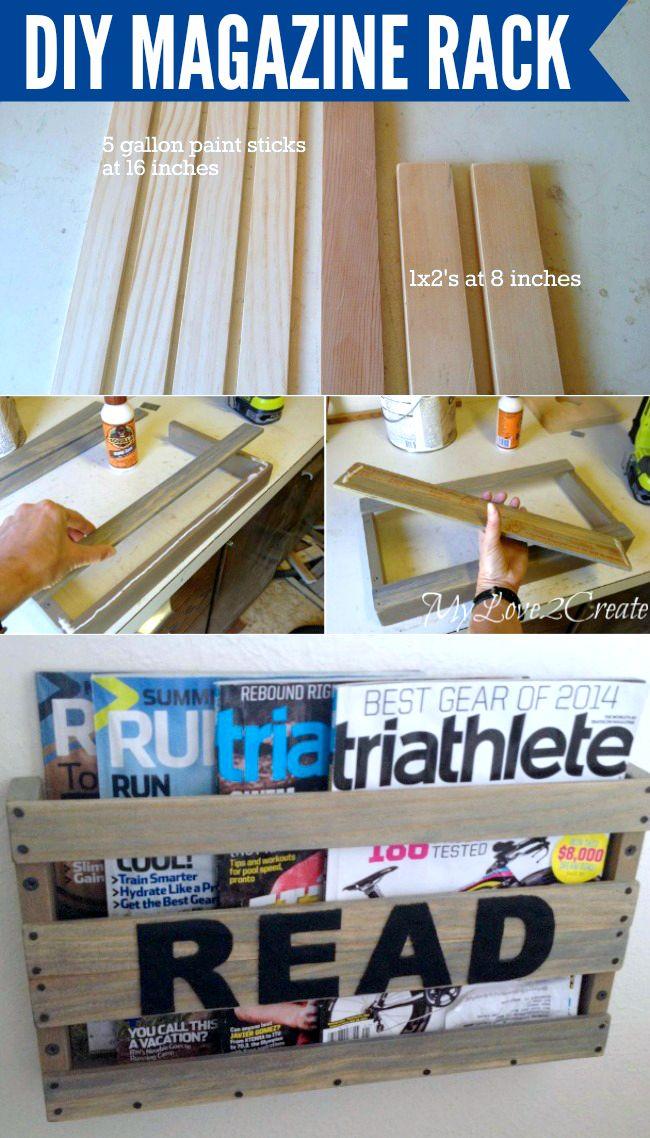 How to make a DIY Magazine Rack