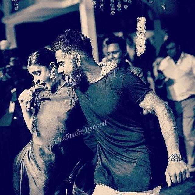 #CoupleGoals : When Virat & anushka rocked the dance floor at Yuvi Hazel wedding in Goa @Instantbollywood ❤❤❤ . Photo : @kartikbhagat . #viratkohli #anushkasharma