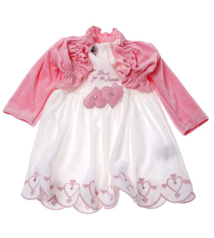 Funky βρεφικό αμπιγιέ σετ φόρεμα-ζακέτα «Sweet»  €21,60