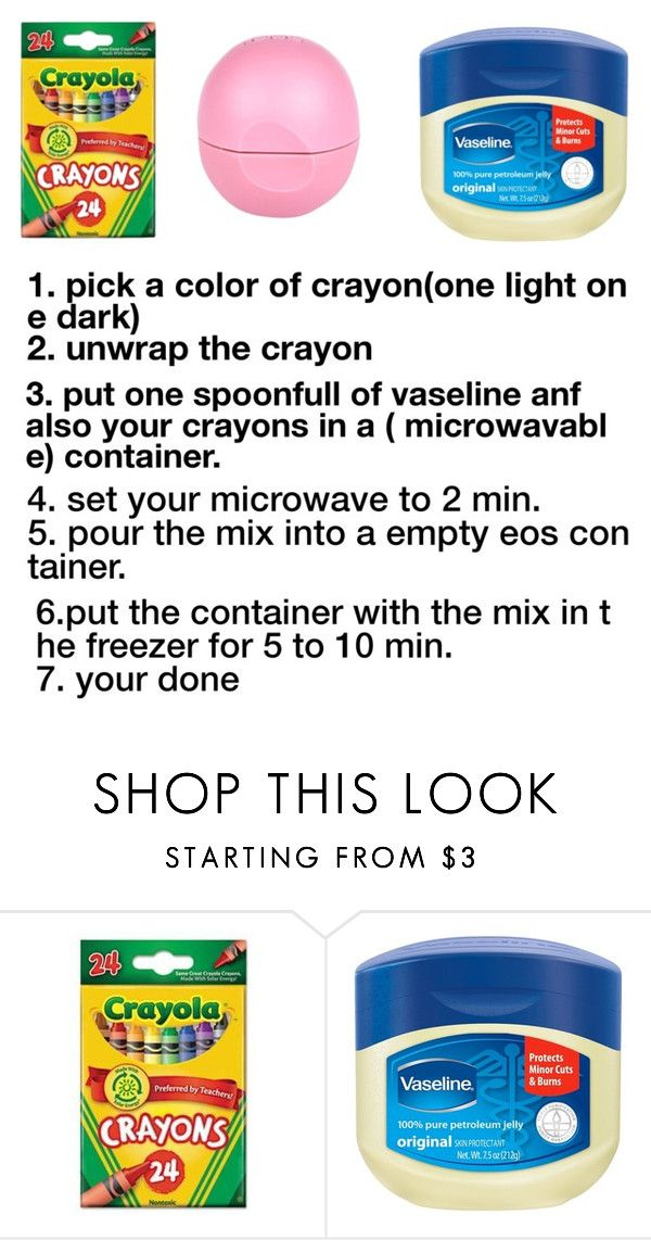 """how to make crayon lipstick"" by ashleighch ❤ liked on Polyvore featuring beauty and River Island"