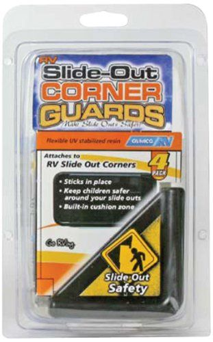 Camco 42203 Black Slide Out Corner Guard