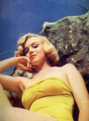 Marilyn Monroe Yellow Bathing Suit