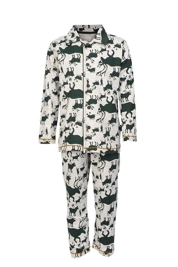 Claesen's pyjama voor jongens Deer, groen