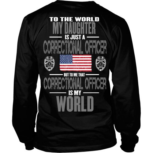 Love this design but want it on the front? Go here http://www.shoppzee.com/products/correctional-daughter View Sizing Chart