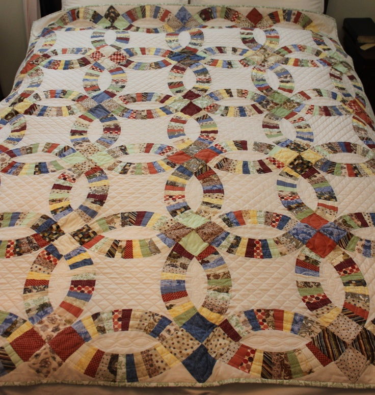 120 Best Quilts Double Wedding Ring Images On Pinterest