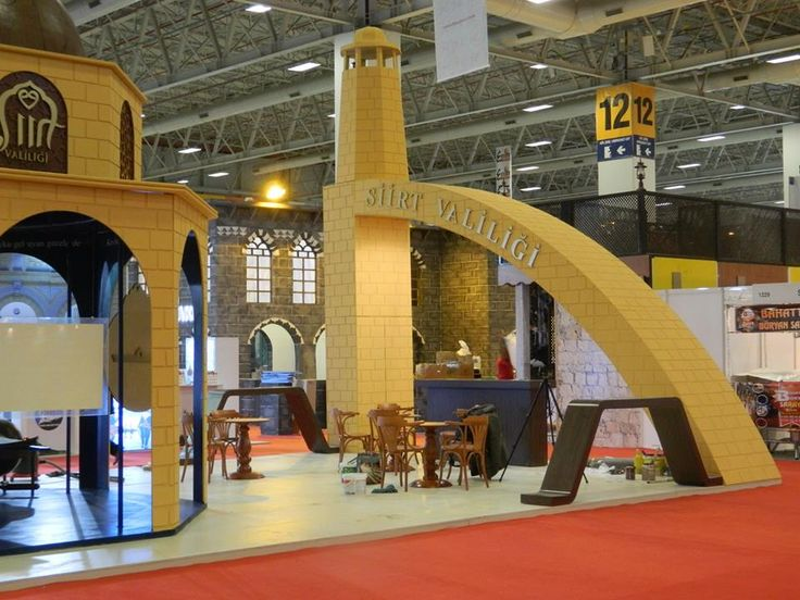 East Mediterranean International Tourism and Travel Fair  EMITT 2014-Siirt Governor's Office won the 'The Best Stand Design' award. Designed by Cem İnci