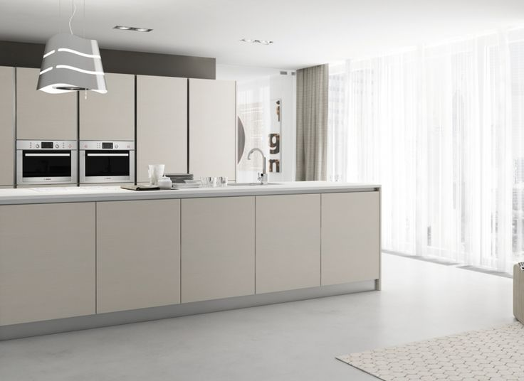 White matte finish simple form and handle less cabinet for Kitchen cabinets 4 less
