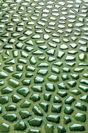 Valtresinaro - Lacche Lacche in glass in Verde Giada by Ceramiche Settecento Valtresinaro