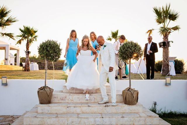 Bride & groom at their villa wedding in Crete. Moments www.weddingincrete.com