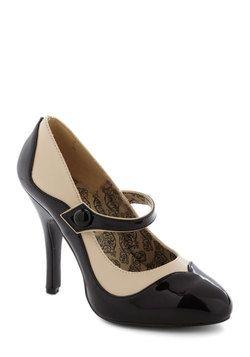 That's How I Stroll Heel: Shoes, Vintage Heels, Stroll Heel, Mod Retro, Mary Jane, Retro Vintage, Modcloth Com