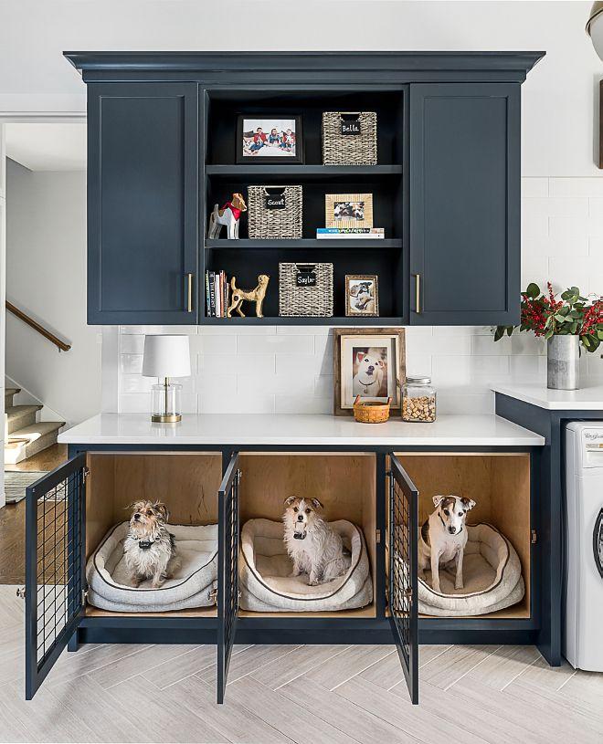 Built In Dog Kennel Mudroom Cabinet Ideas Builtindogkennel Dogkennelcabinet Home Bunch Blog
