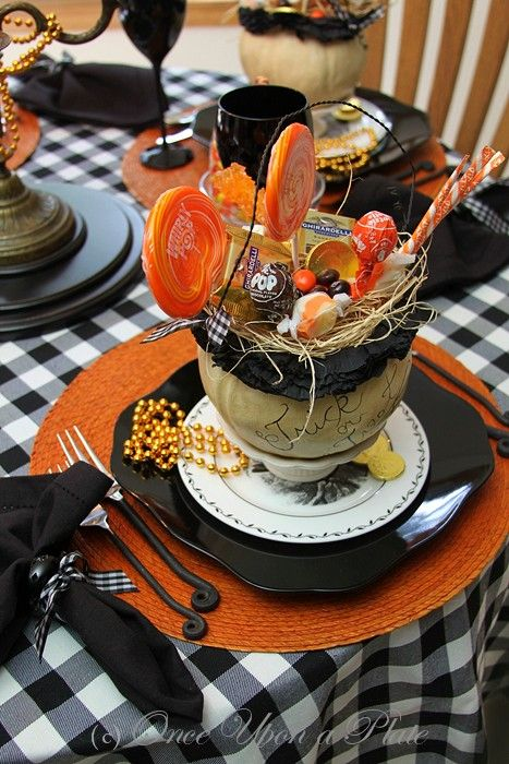 once upon a plate halloween greetings tablescape thursday place setting romantichalloween - Halloween Place Settings