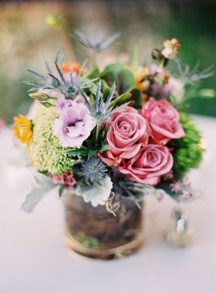 #roses, #centerpiece |  photography: Trent Bailey Photography