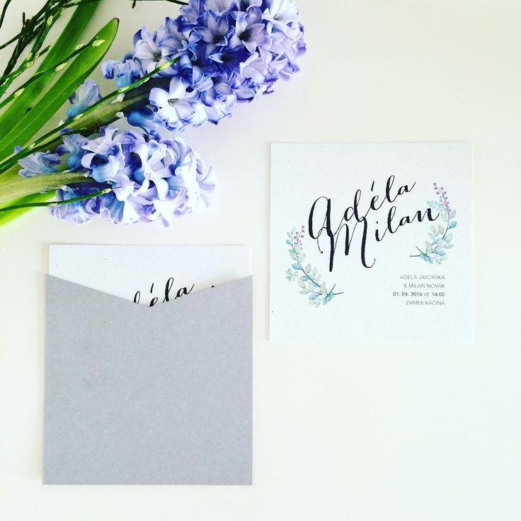 Svatební oznámení #svatbadesign #svatebni #design #svatebnioznameni #oznameni #hyacint #kvetiny #wedding #graphic #weddinginvitation #invitation #flowers #hyacinth