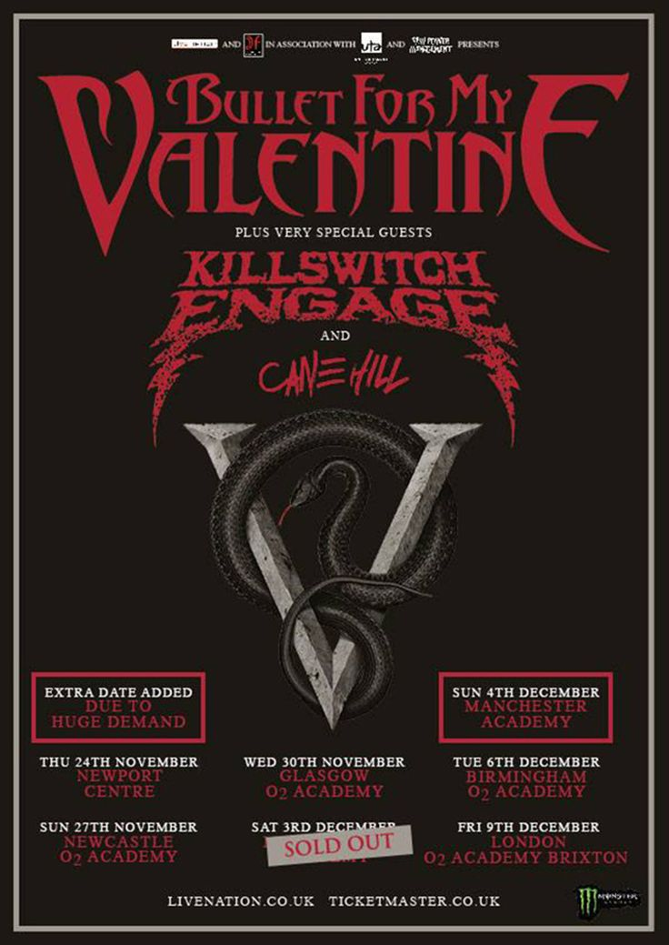 "Bullet For My Valentine to play entire ""The Poison"" album at concert"