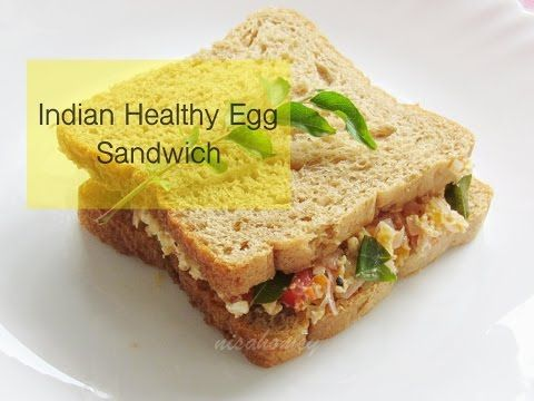 Indian Style Healthy Egg Sandwich Recipe - Egg Bhurji Sandwich - Indian Healthy Breakfast Recipes - YouTube