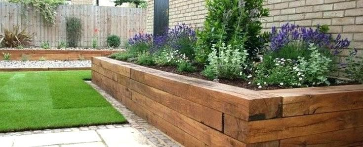 raised bed against house wall - Google Search | Small ...