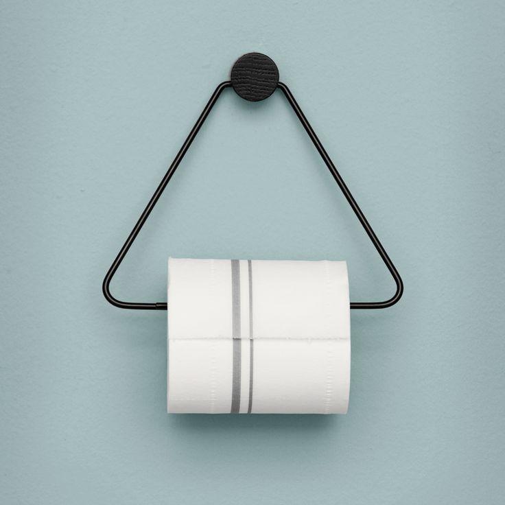 Black Toilet Paper Holder ferm living