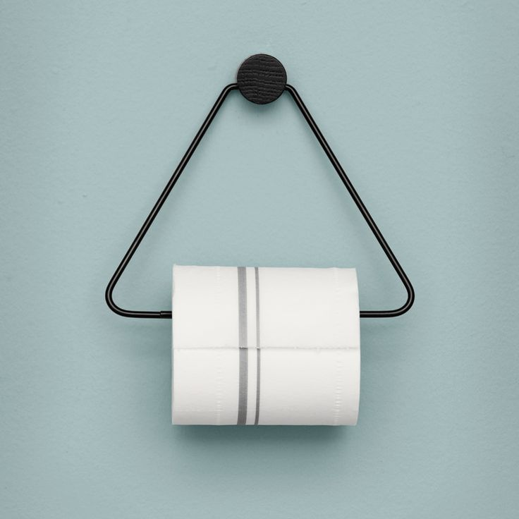 Black Toilet Paper Holder ferm living