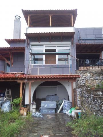 Θερμοπρόσοψη με το σύστημα Thermomaster σε κατοικία, στον Χορτιάτη Θεσσαλονίκης