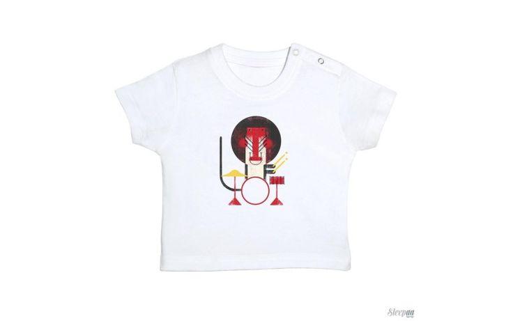 Camiseta bebé MANDRIL BATERA