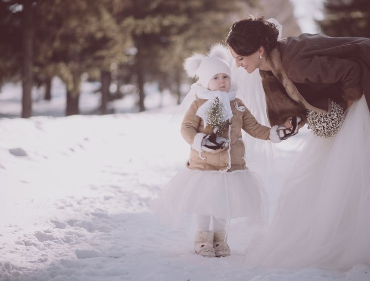 свадьба, детки, мама с дочкой, зима